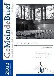 Januar – Februar 2012 - Evangelische Kirchengemeinde Langenfeld