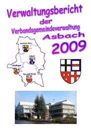 Verwaltungsbericht 2009 - Verbandsgemeindeverwaltung Asbach