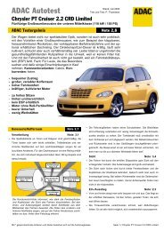Chrysler PT Cruiser 2.2 CRD Limited - ADAC