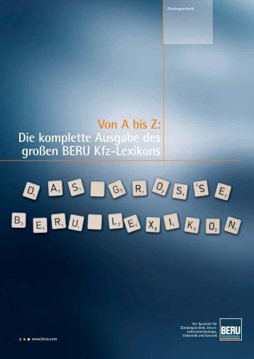Von A bis Z: Die komplette Ausgabe des großen BERU Kfz-Lexikons