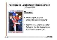 """Fachtagung """"Digitalfunk Niedersachsen Themen:"""