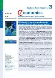 B2C-Handel in der Automobilindustrie: Internet primär als