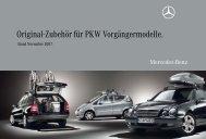 Original-Zubehör für PKW Vorgängermodelle. - Mercedes-Benz ...