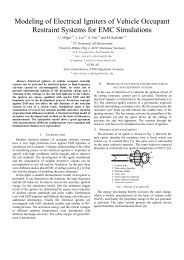 Modeling of Electrical Igniters of Vehicle Occupant ... - TU Dortmund