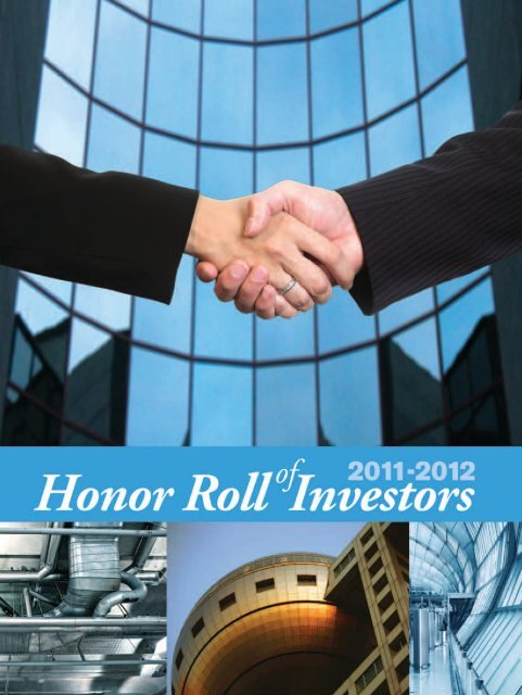 2011–2012 InVestOR HOnOR ROll - ashrae