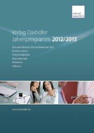 Bilanzierung und Jahresabschluss - Verlag Dashöfer