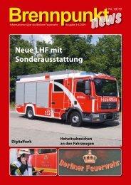 Brennpunkt news Nr. 18/19 - Feuerwehrmuseum Berlin