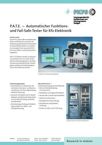 und Fail-Safe-Tester für Kfz-Elektronik - FKFS