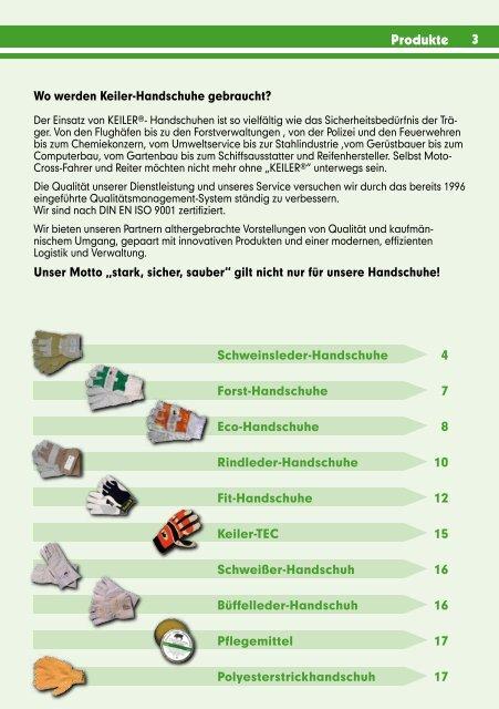 Katalog 09/10 [PDF, 2,3 MB] - Keiler Schutzhandschuhe
