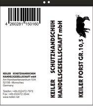 Benutzerinformation Forst [PDF, 55,2 kB] - Keiler Schutzhandschuhe