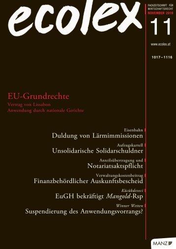 ecolex 2010/11 - Rechtsanwälte Lansky & Partner