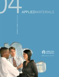 Applied Materials 2004 Annual Report