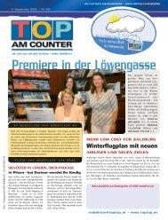Premiere in der Löwengasse - top am counter
