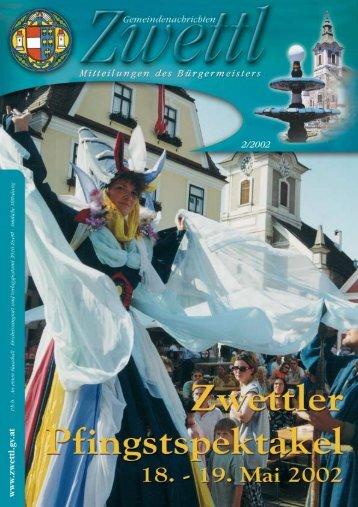 Gemeindenachrichten Zwettl 2/2002 (1,86 MB)