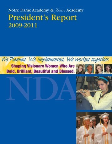 Annual Report 2009-2011 - Notre Dame Academy