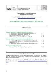 KVV BA-Nebenfach Politikwissenschaft WS 2012/13 - Geschwister ...