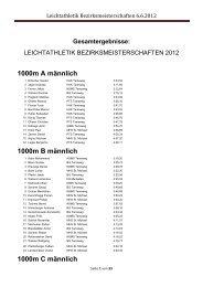 Leichtathletik Bezirksmeisterschaften 6.6.2012