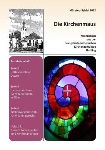 Die Kirchenmaus - Evangelische Kirchengemeinde Plattling