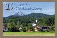 Festschrift 125 Jahre Musikkapelle Ainring