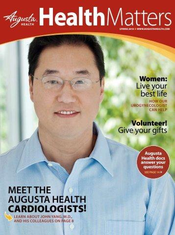 meet the augusta health cardiologists!