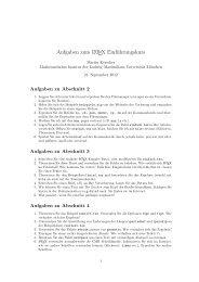 Aufgaben - Mathematisches Institut - LMU