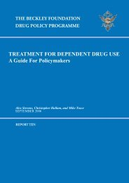 Treatment for dependant drug use. - The Beckley Foundation