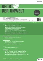 RECHT DER UMWELT - Rechtsblog.at