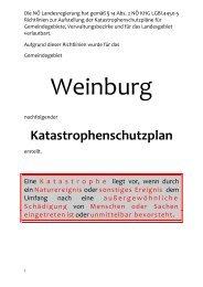 Katastrophenschutzplan 2012 - Gemeinde Weinburg
