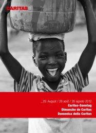 _26. August / 26 août / 26 agosto 2012 Caritas ... - CARITAS - Schweiz
