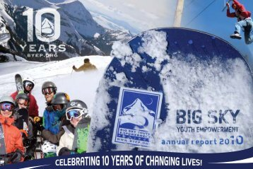 download our annual report - Big Sky Youth Empowerment