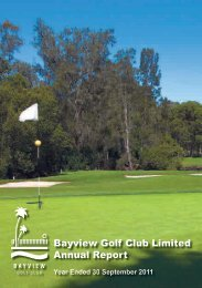 Bayview Golf Club Limited Annual Report