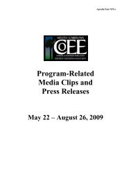 Program-Related Media Clips and Press Releases - Endowed Chairs
