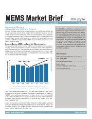 MEMS March 2010 Market Brief - WM AG