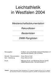 Leichtathletik in Westfalen 2004 - LG Wittgenstein