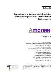 Anwendung und Analyse modellbasierter ... - Mobilität 21
