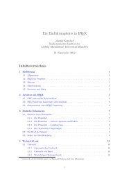 Skript - Mathematisches Institut - LMU