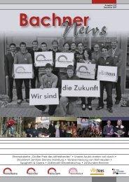 BachnerNews Dezember 2007 - Bachner Elektro GmbH & Co. KG