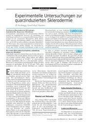 Experimentelle Untersuchungen zur quarzinduzierten Sklerodermie