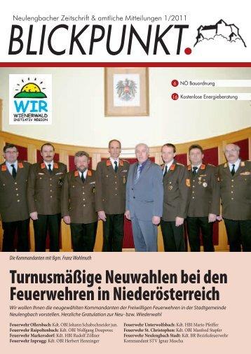 Turnusmäßige Neuwahlen bei den Feuerwehren in Niederösterreich