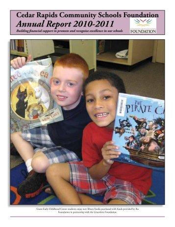 Annual Report 2010-2011 - Cedar Rapids Community Schools ...