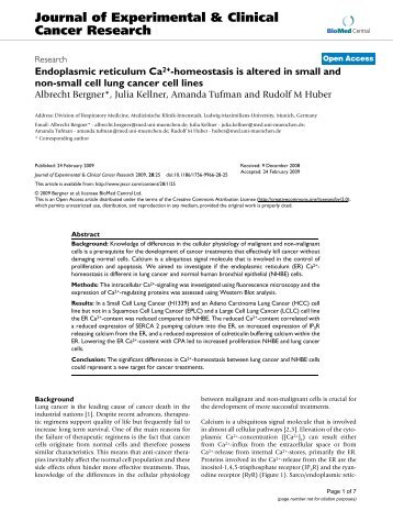 Journal of Experimental & Clinical Cancer Research - BioMed Central