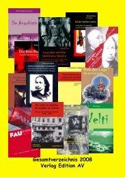 Gesamtverzeichnis 2008 Verlag Edition AV