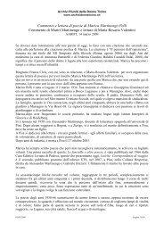 Commento e lettura di poesie di Marica Martinengo - AARDT