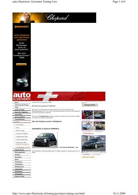Page 1 of 6 auto-illustrierte: Gewinner Tuning-Cars 18.11 ... - Cartech