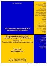 Download des aktuellen Programms - Schulleitungssymposium