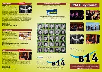 B14 Programm - Musik Cafe B14