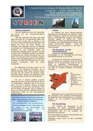 2. Deutsch-Syrischer Kongress für Wissenschaft und Technik