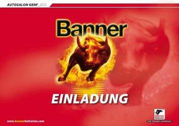 EINLADUNG - Banner Batterien