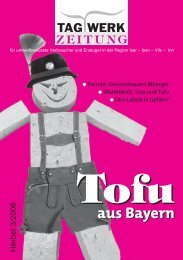 Warenkorb: Soja und Tofu - Tagwerk