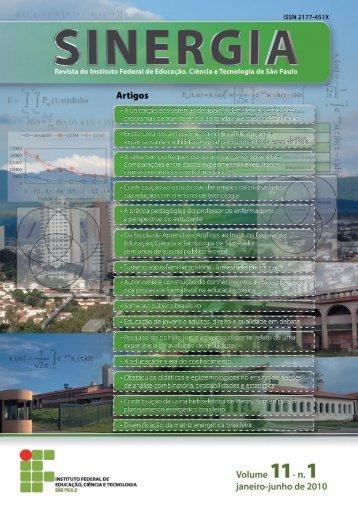 Revista Sinergia do Instituto Federal de Educação, Ciência e ...